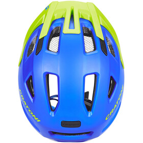 Cratoni Maxster Pro Fahrradhelm Kids blau/lime matt
